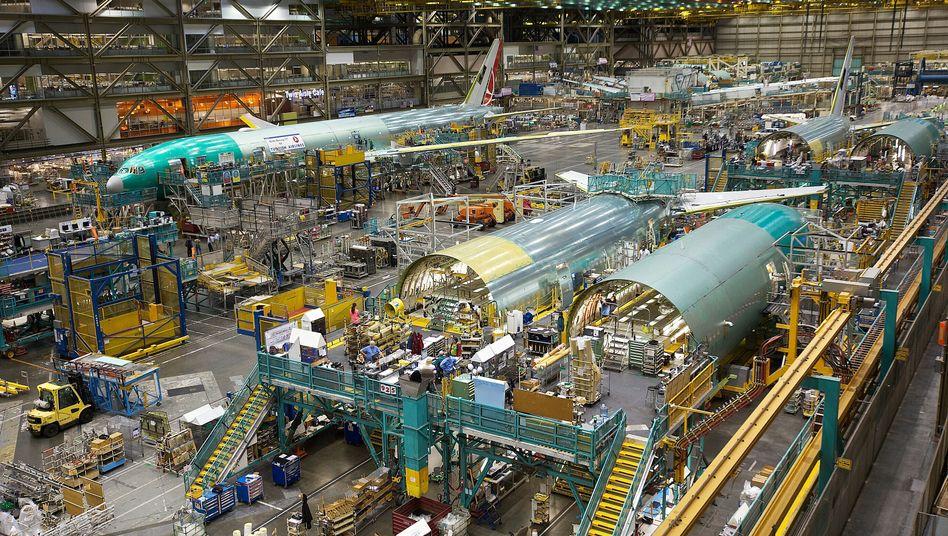 Flugzeugproduktion in Everett/Washington: Aktie verliert massiv an Wert