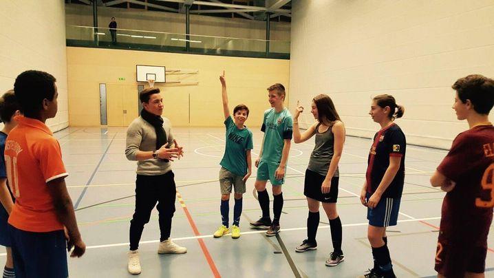 Marco als Trainer mit seiner Jugendmannschaft