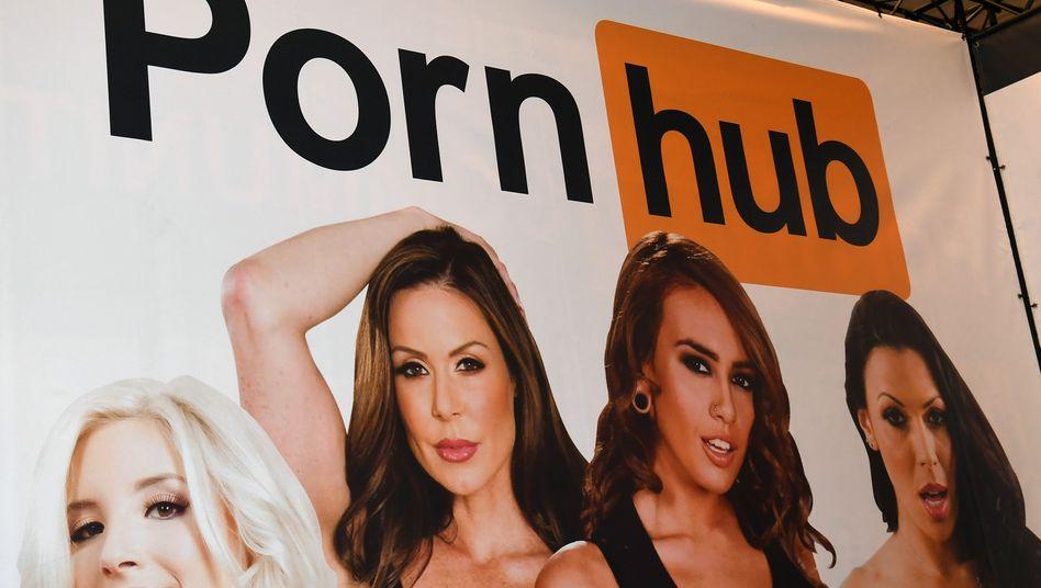 Plakat der Pornografieplattform Pornhub