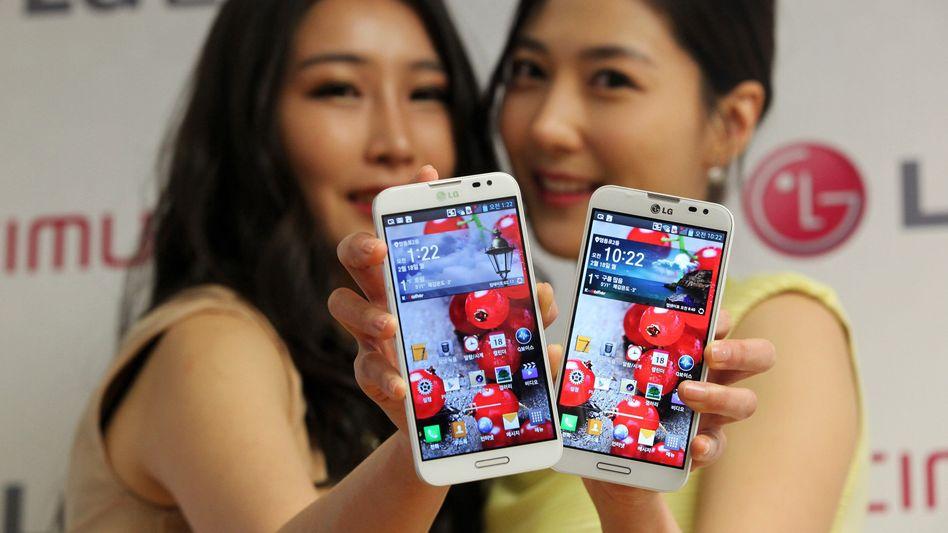 Präsentation von LG-Smartphones: Kleine Hersteller profitieren besonders vom Wachstum