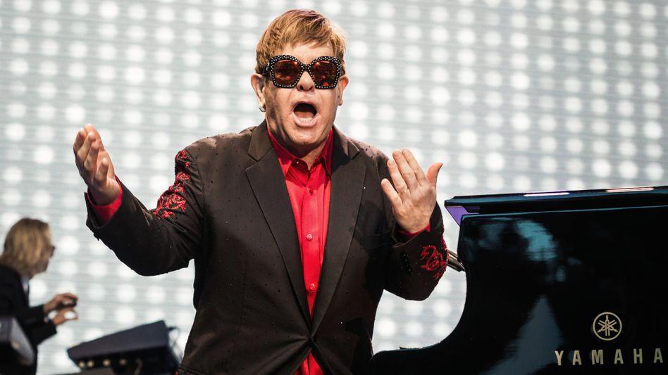 Elton John auf der Bühne (2017 in Zürich): In deutschen Konzerthallen erst 2023 wieder