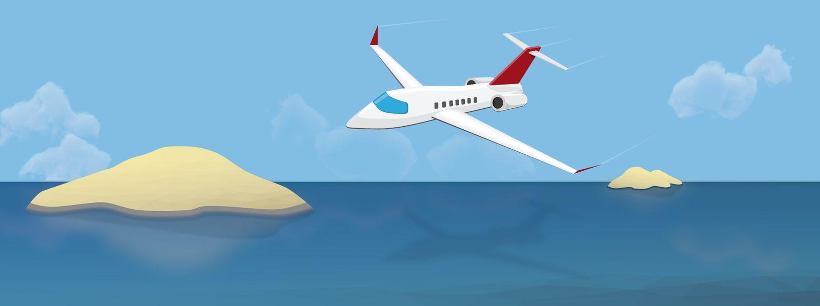 Rätsel der Woche: 1 Flugzeug 2 Inseln