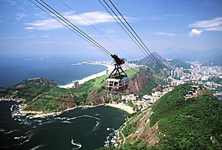 Sogar im brasilianischen Rio de Janeiro gibt es eine Seilbahn