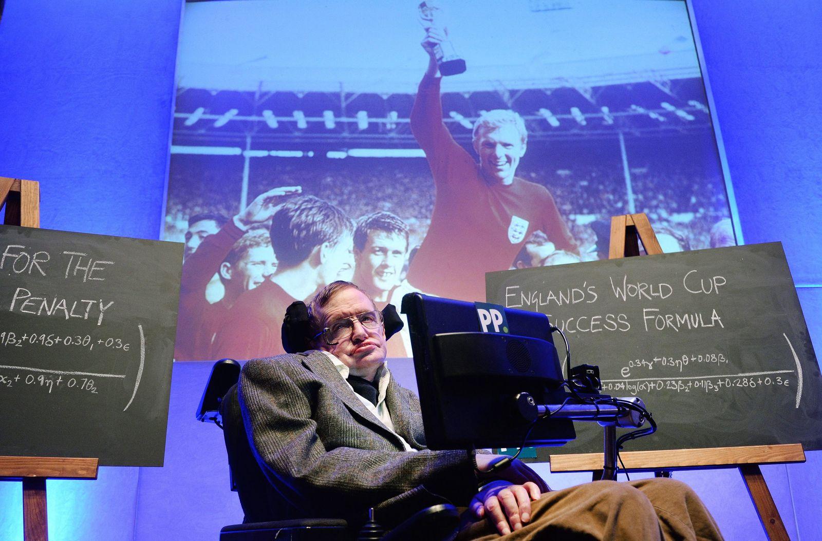 Professor Stephen Hawking develops formula for England to win 201