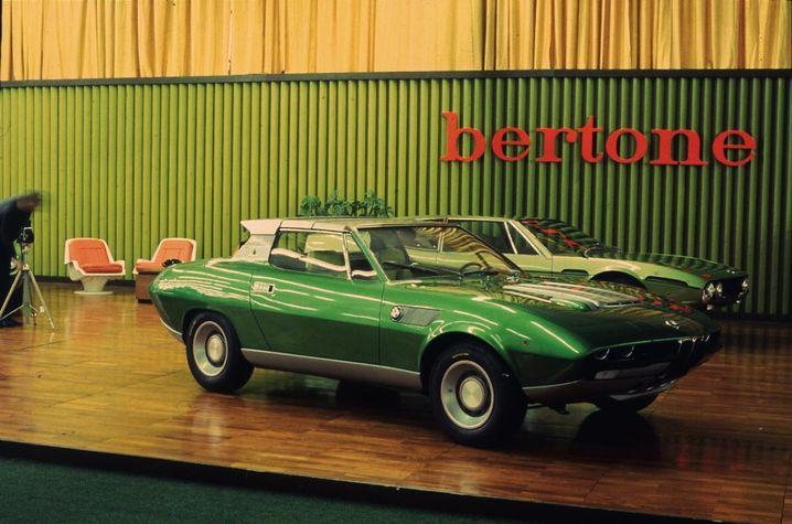 Der Spicup auf dem Bertone-Stand des Genfer Autosalons 1969