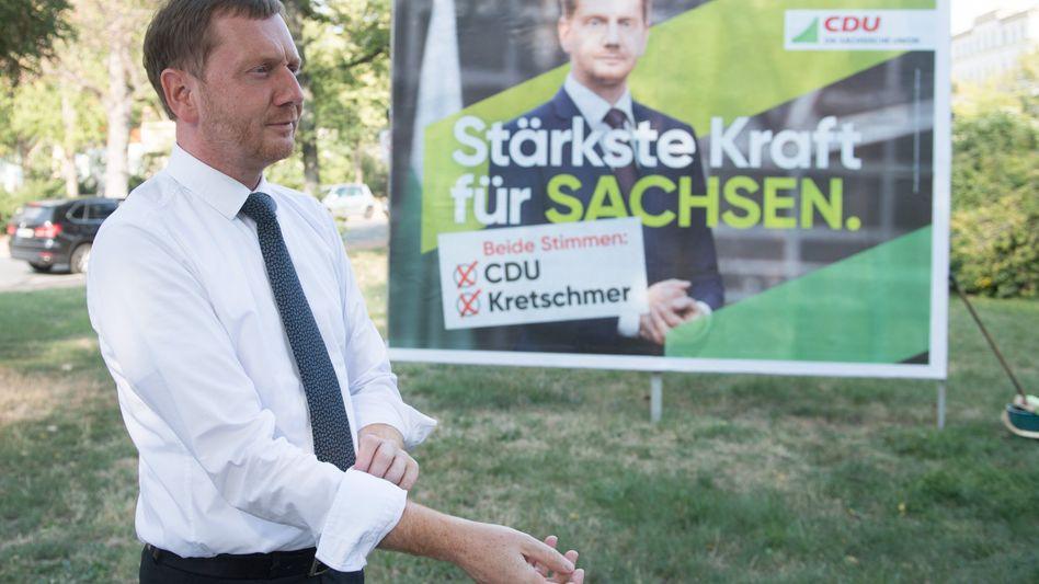 CDU-Ministerpräsident Michael Kretschmer: Die Regierungsbildung in Sachsen dürfte kompliziert werden