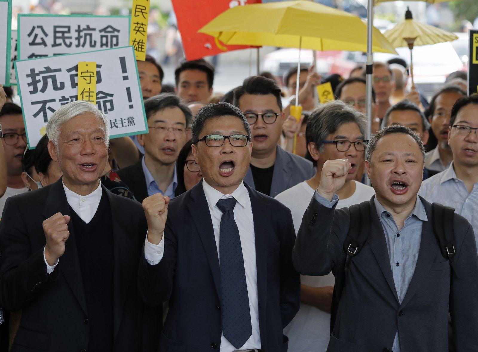 Hongkong/ Regenschirm-Bewegung