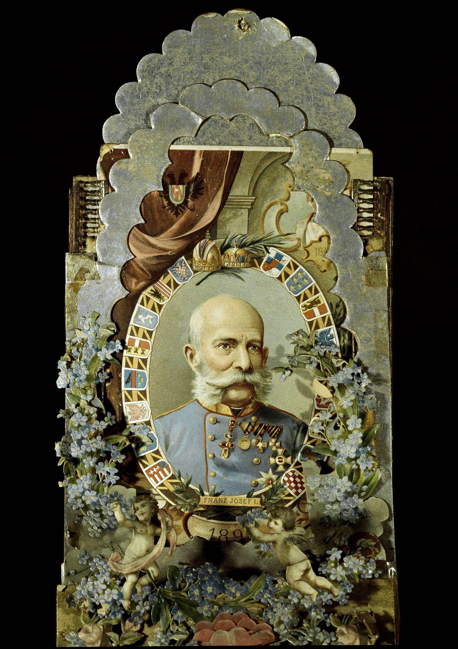 Premiere guerre mondiale imagette en hommage a l empereur Francois Joseph Ier 1830 1916 distribu