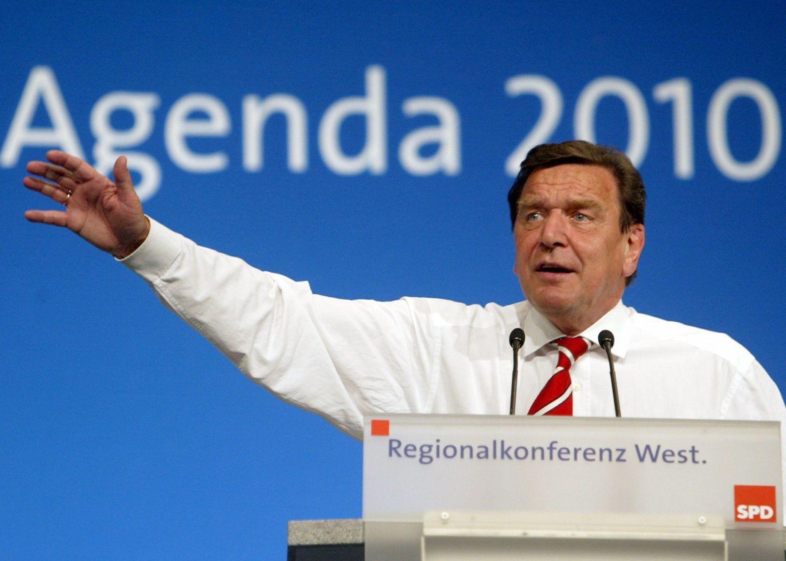 Agenda 2010 / 10. Jahrestag / Gerhard Schröder