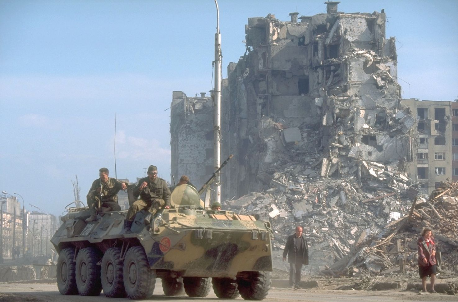 Grozny in the Aftermath of Russian Bombing