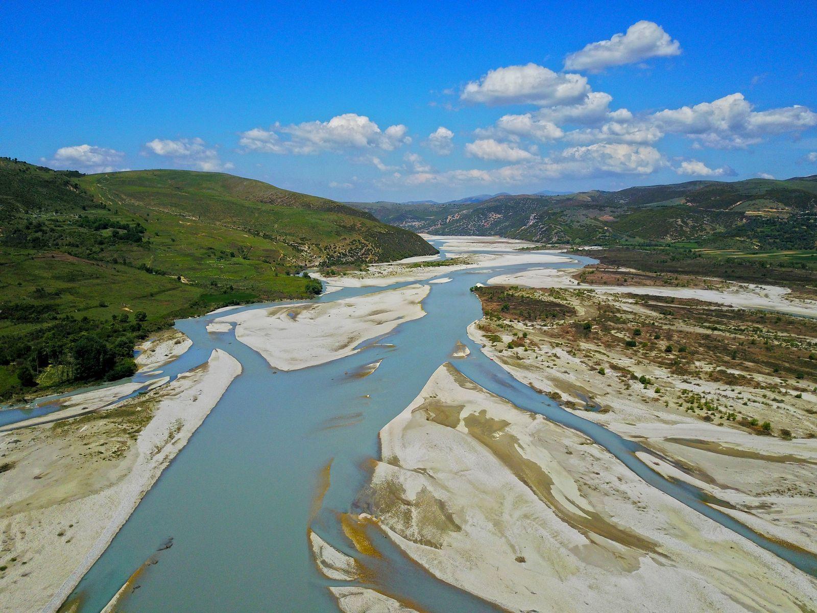 Viosa/ Albanien/ Wildfluss