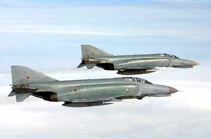 Zwei Phantom-Jäger der Luftwaffe: Kein Kontakt zum Passagierjet