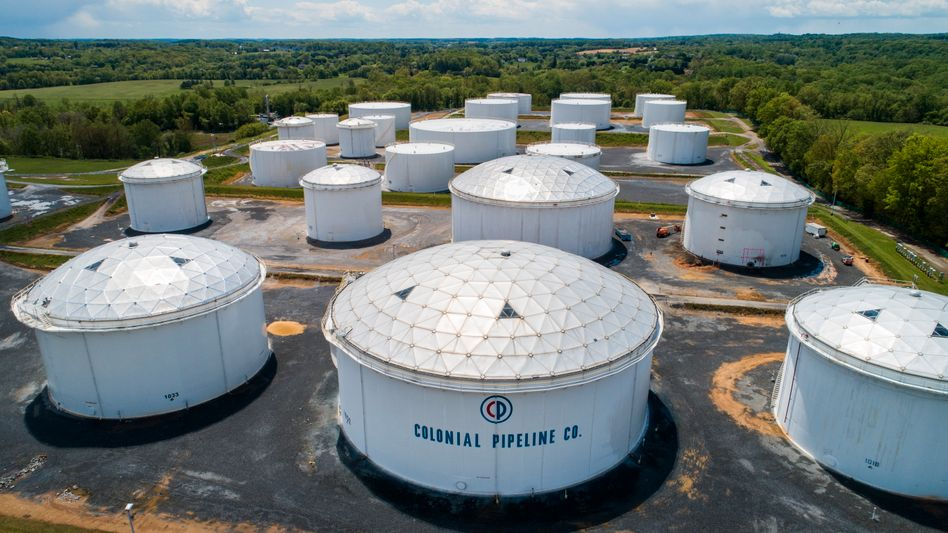 Tanks der angegriffenen Colonial-Pipeline in Woodbine im US-Bundesstaat Maryland
