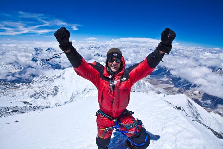 Saikaly auf dem Gipfel des Mount Everest