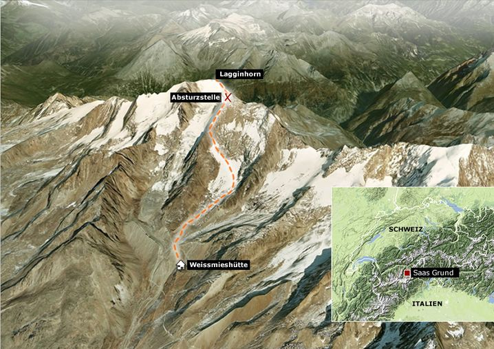 Lagginhorn: Die am Dienstag verunglückten Bergsteiger stiegen auf der Normalroute auf