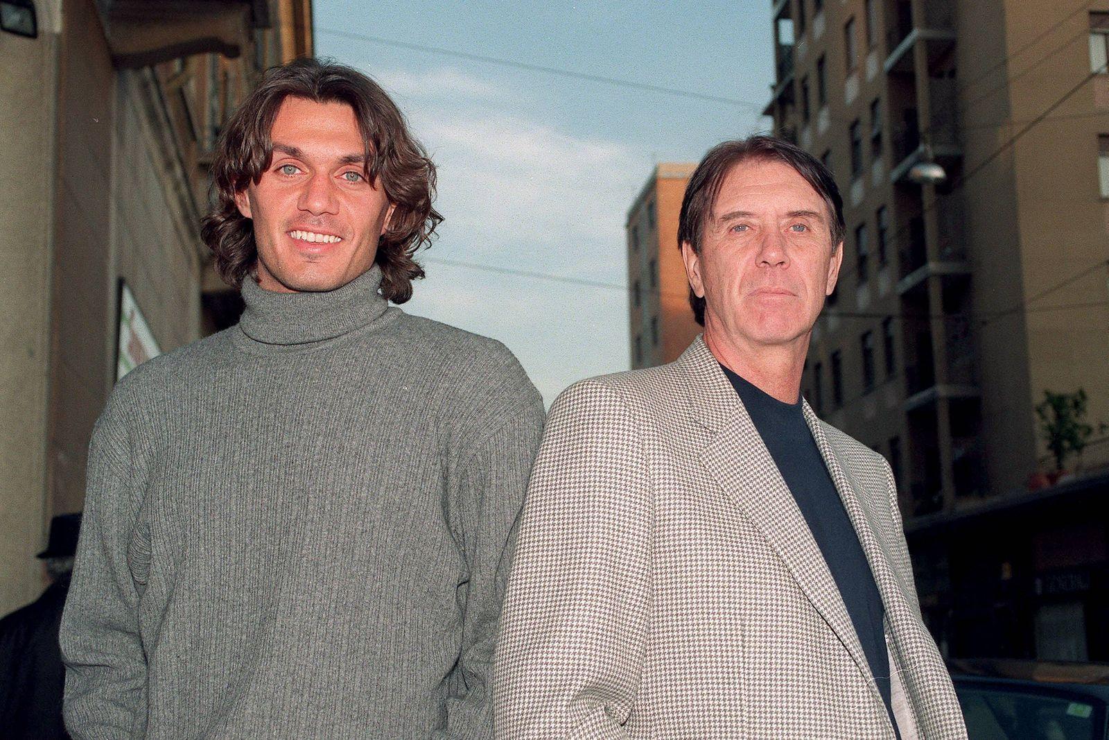 Paolo Maldini 50 Geburtstag am 26 Juni Paolo li und Cesare Maldini beide Milan Vater und S
