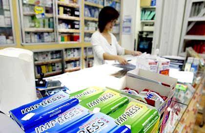 Kaugummiverkauf in einer Singapurer Apotheke: Reglementierte Abgabe einer kontrollierten Substanz