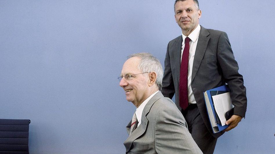 Minister Schäuble, Staatssekretär Werner Gatzer