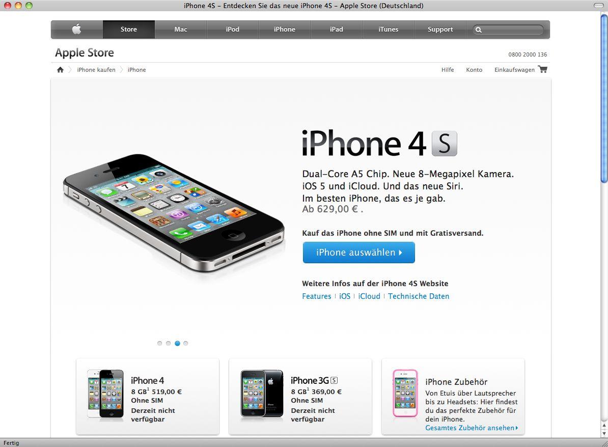 NUR ALS ZITAT Screenshot Apple Store / iPhone
