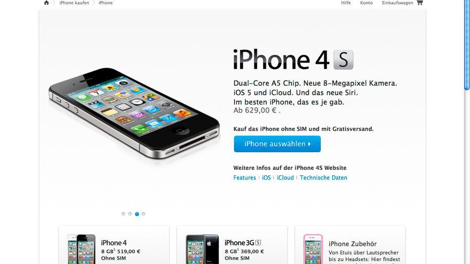 Apple Online Store am 3. Februar 2012: Ältere iPhones aus dem Angebot genommen