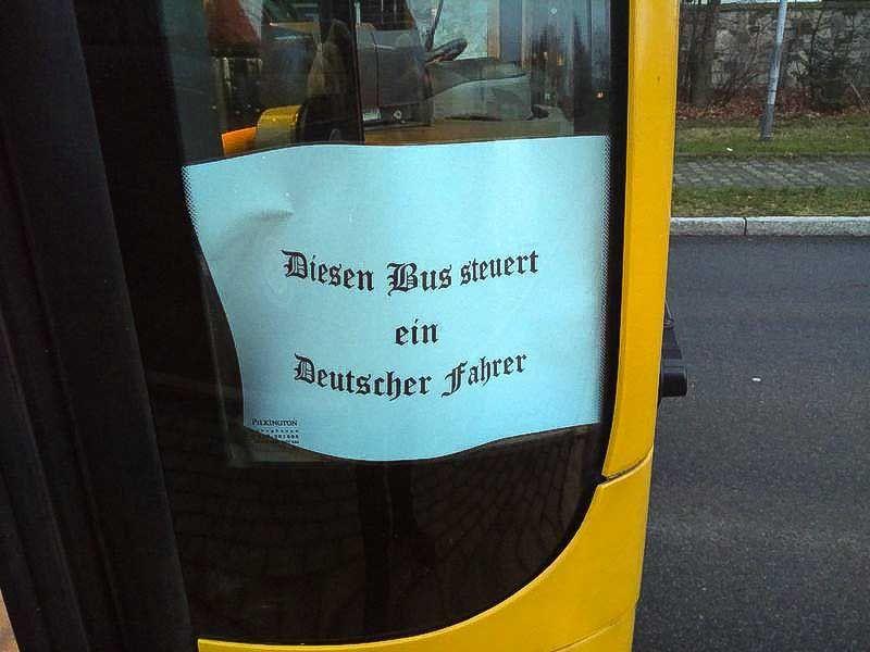 Zettel/ Busfahrer/ DVB