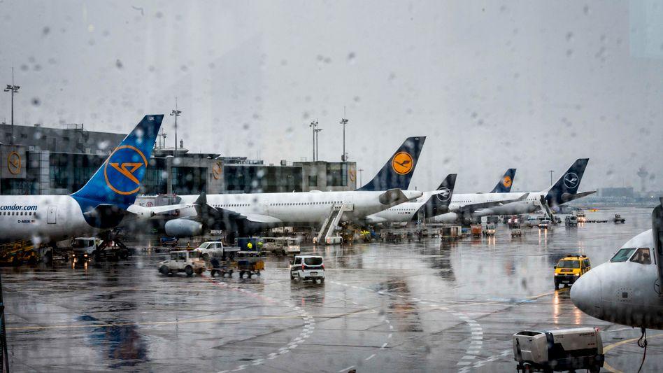 Am Boden statt in der Luft: Flugzeuge am Frankfurter Flughafen