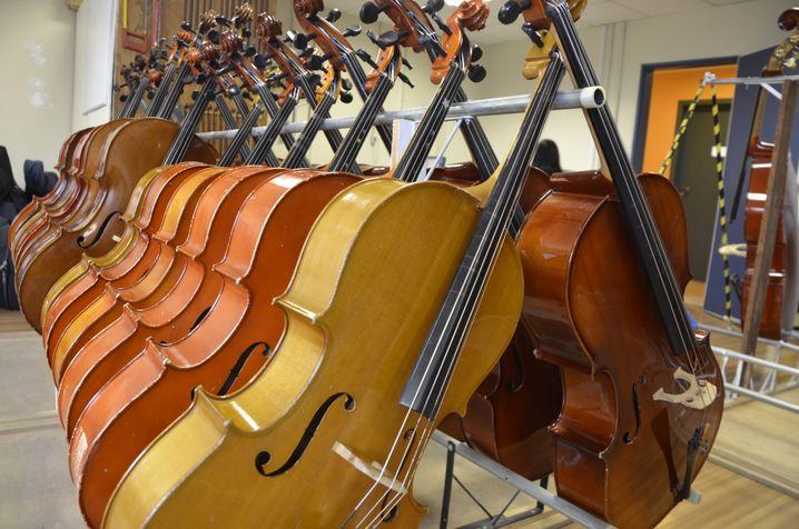 Instrumente im Lager des Instituts