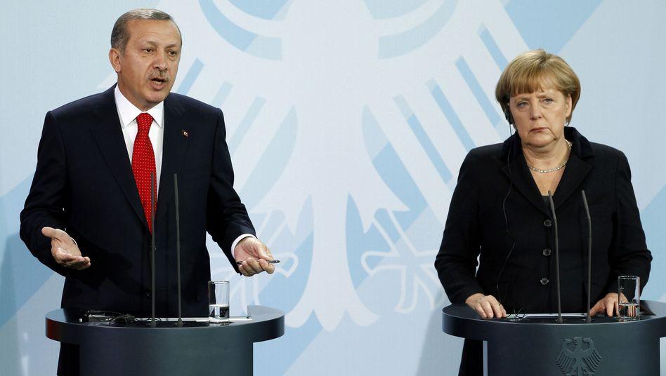 Präsident Erdogan, Kanzlerin Merkel (Archivbild): Wie reagiert die Türkei?
