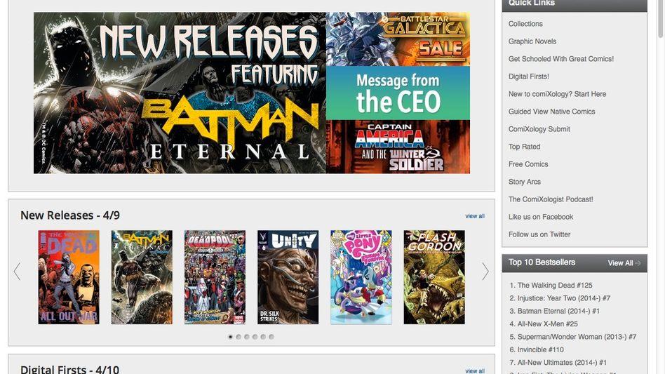 Screenshot der ComiXology-Website: Gekauft von Amazon