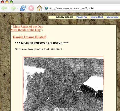 Verfremdetes Barrot-Bild: Screenshot der Website www.neandernews.com