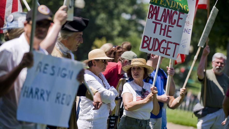 Anhänger der Tea Party bei Demo in Washington: Aggressivste Form der Demokratie
