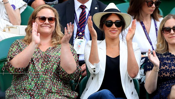 Meghan in Wimbledon: Serenas Fans