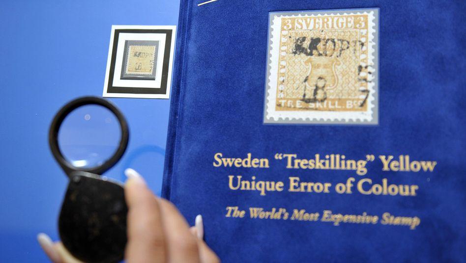 """""""Gelbe Treskilling"""": Teuerste Briefmarke der Welt"""