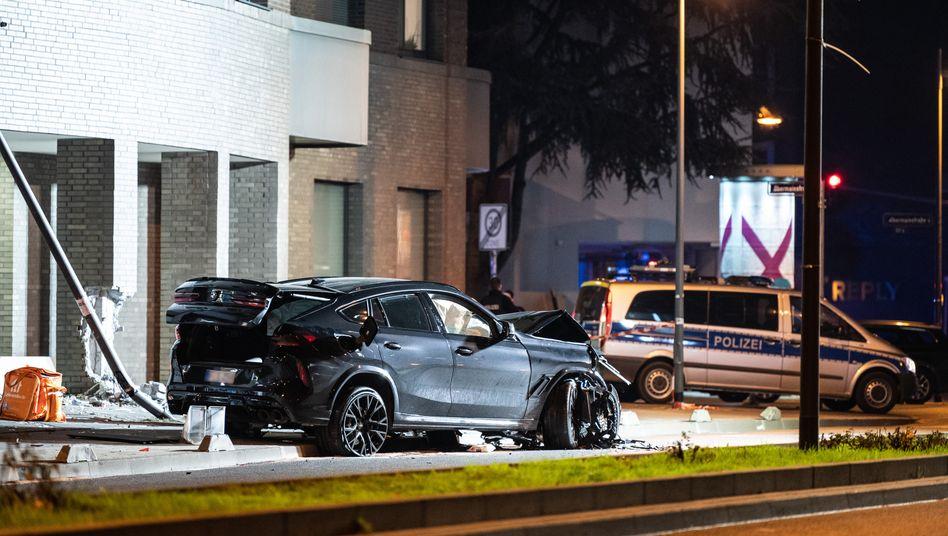 Unfallort im Frankfurter Ostend