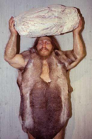 Plastik im Neandertal-Museum bei Mettmann