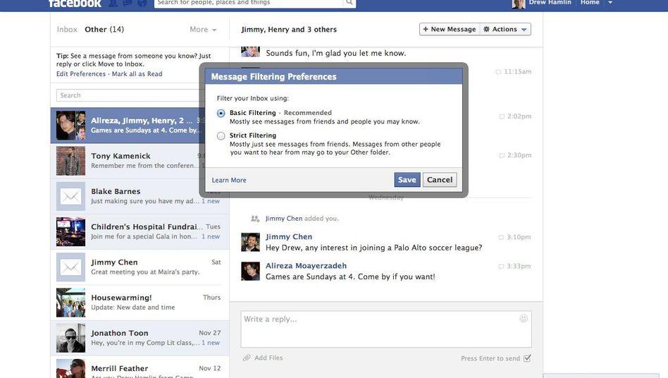 Facebook Messages: Künftig garantierte Zustellung für einen Dollar - für Ausgewählte