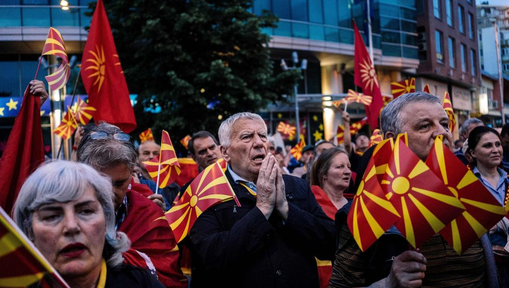 Probleme in Mazedonien: Ein Fähnlein macht mächtig Wind
