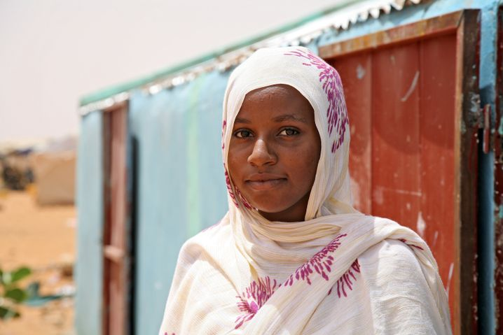 Tinalbarka Walid Amano is 16 and has lived in Mbera since 2012