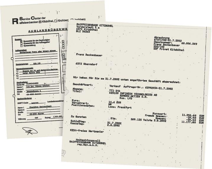 "Beckenbauer-Bankbelege ""Swift dringend!!"""