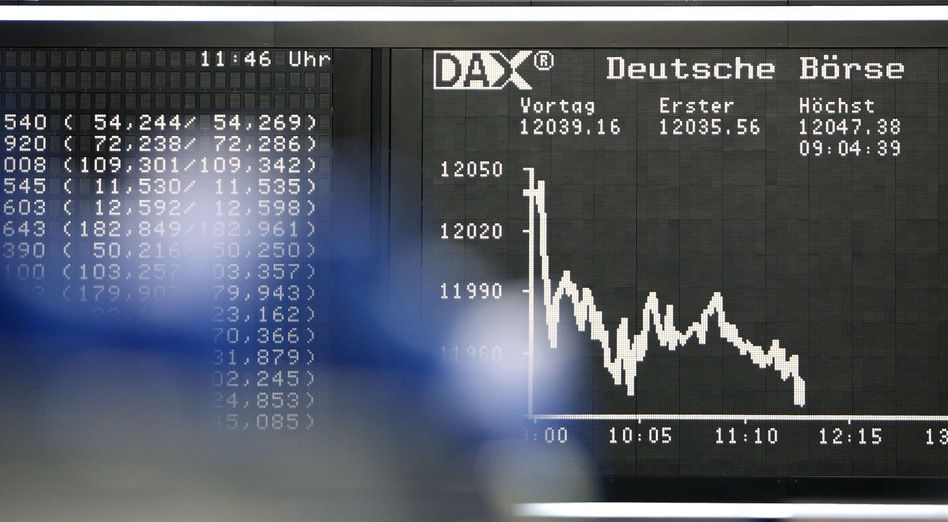 Dax-Kurve: Schwarze Woche in Frankfurt