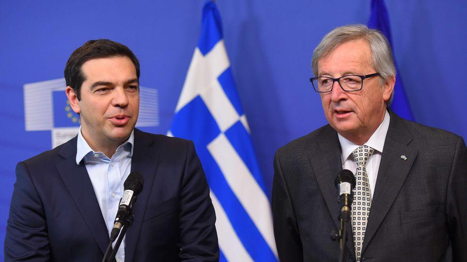 """Tsipras, Juncker in Brüssel: """"Einig, dass die Situation ernst ist"""""""