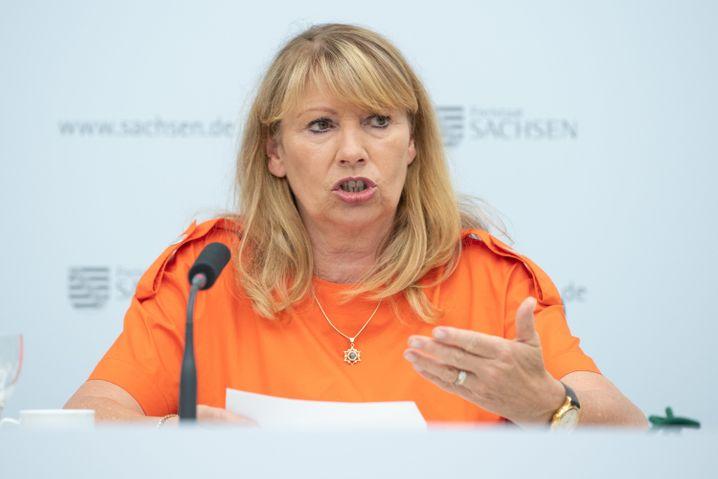 Gesundheitsministerin Petra Köpping informierte über die geplanten Eckpunkte der neuen Corona-Schutz-Verordnung in Sachsen