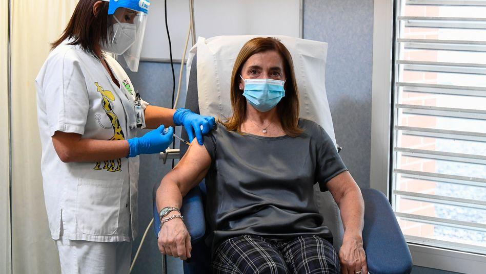 Impfung mit Biontech-Vakzine