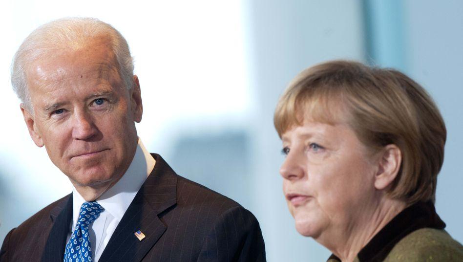Bundeskanzlerin Angela Merkel und US-Präsident Joe Biden (Archiv)
