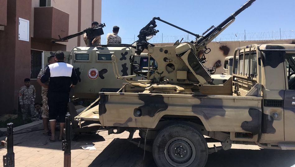 Militärangehörige von Ministerpräsident Fajis al-Sarradsch in Libyen (Archivbild).