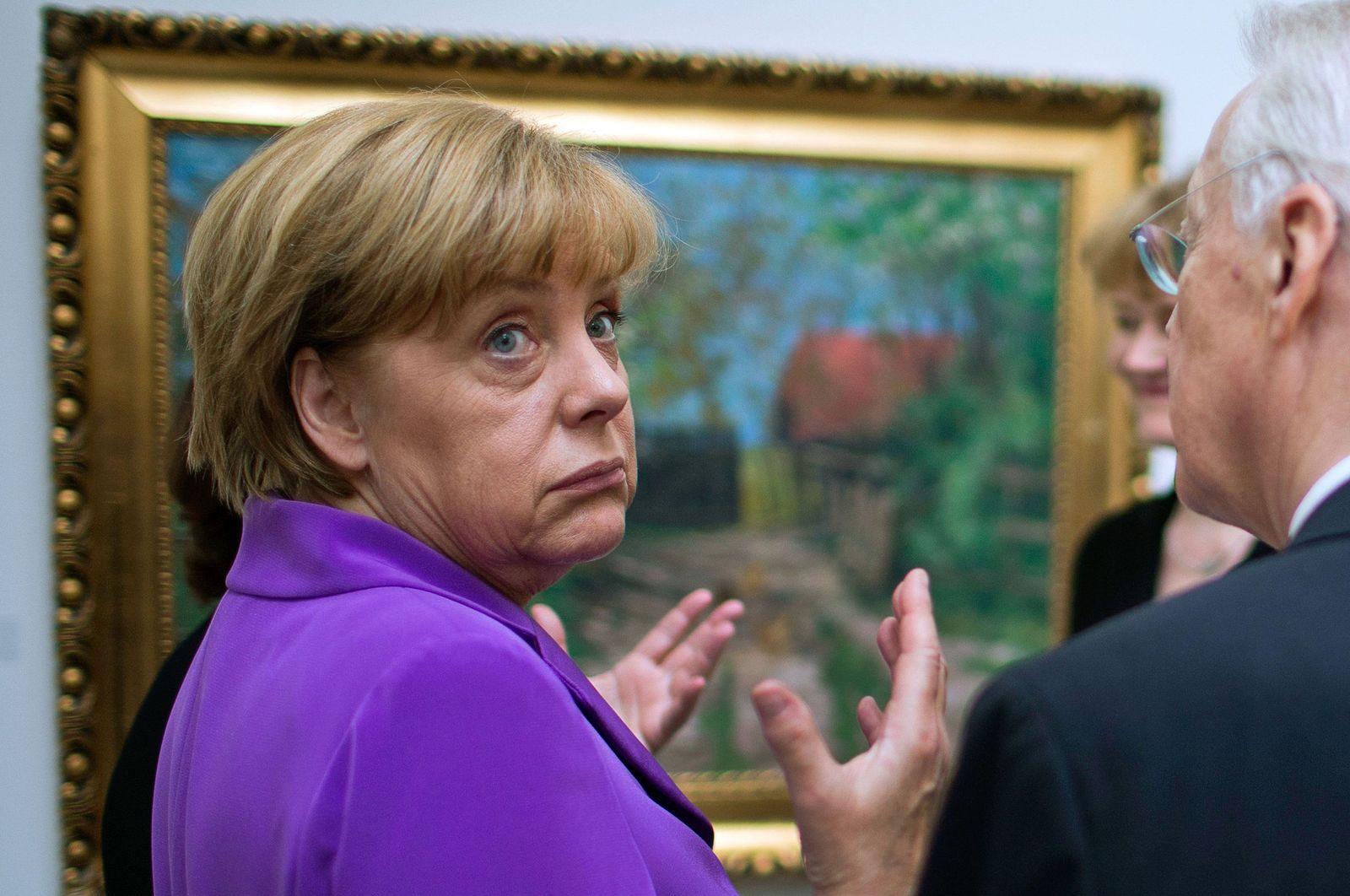 Merkel besucht Kunstmuseum