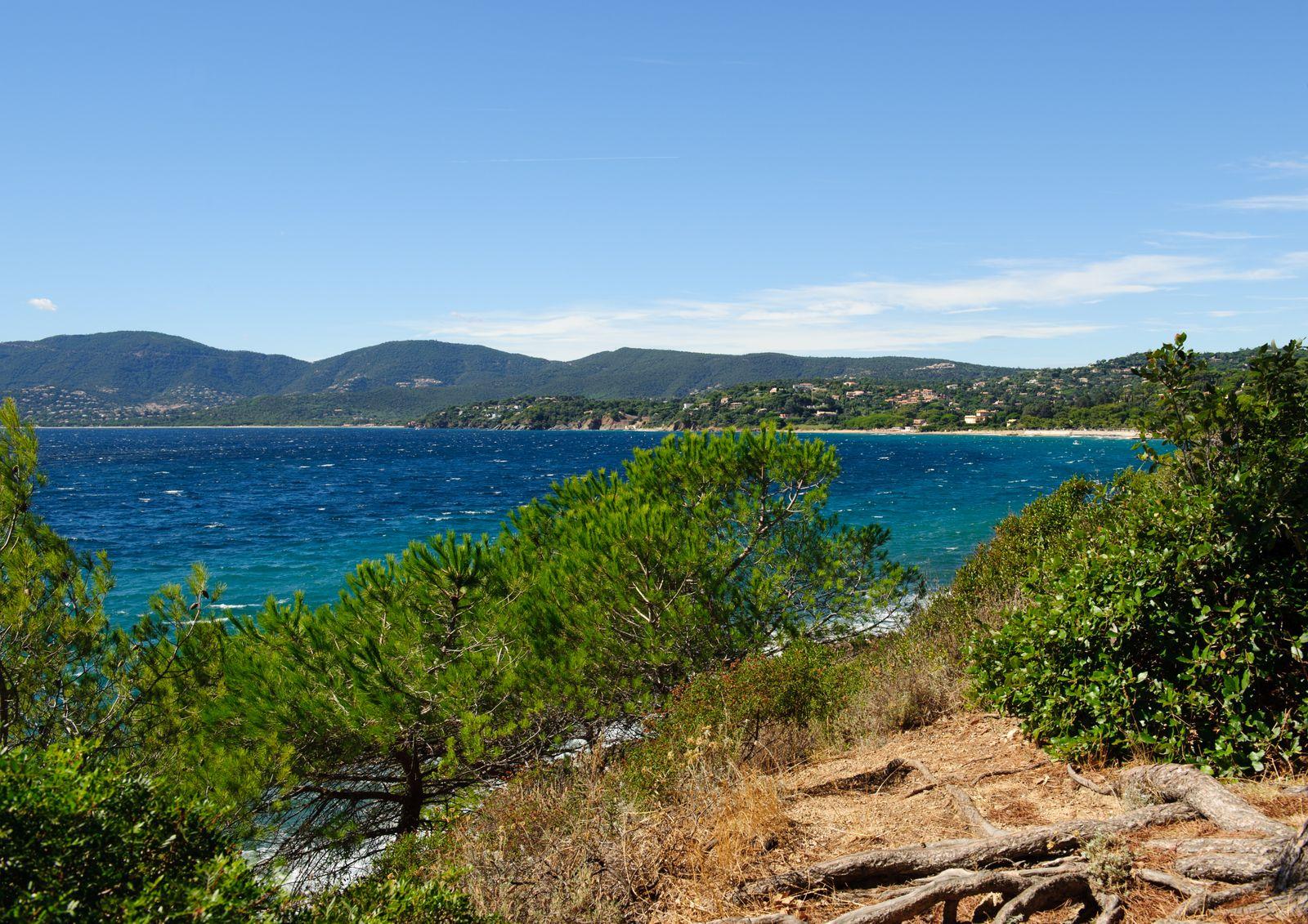 View on the beach La Croix-Valmer