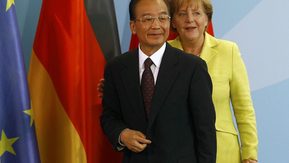 Chinese Premier Wen Jiabao was in Berlin on Tuesday for consultations with Chancellor Angela Merkel.