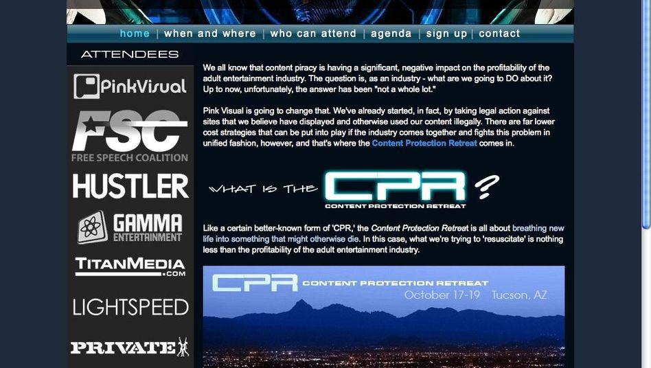 Webseite des CPR-Treffens: Wiederbelebung für das Porno-Business?