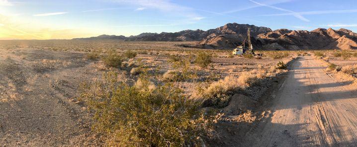 Hughes Rakete in der Wüste
